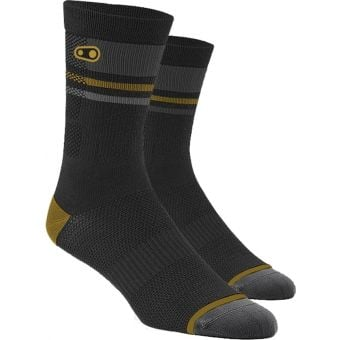 Crank Brothers X 100% Collection Trail Socks Gold/Black/Grey