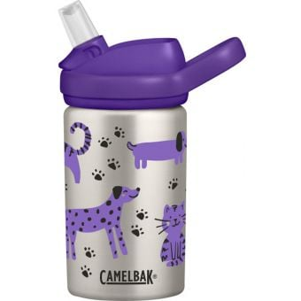 CamelBak Eddy Kids 400mL Stainless Vacuum Insulated Bottle Cats & Dogs