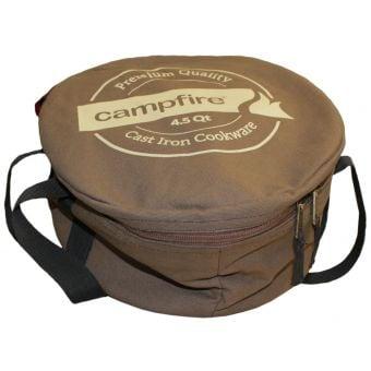 Campfire 4.5 Qt Camp Oven Cotton Canvas Carry Bag Brown