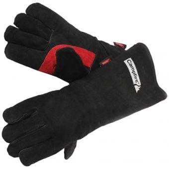 Campfire Heat-Resistant Protective Leather Gloves