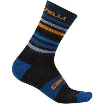 Castelli GREGGE 15 Socks Anthracite/Orange