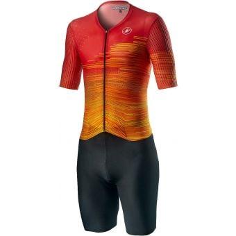 Castelli PR Mens Speed Suit Fiery Red 2021