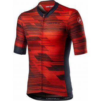 Castelli Rapido Mens Jersey Red/Savile Blue 2021