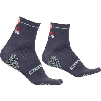 Castelli Rosa Corsa Due Womens Socks Dark Steel Blue 2020 Large/X-Large