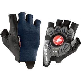 Castelli Rosso Corsa Espresso Gloves Savile Blue 2021