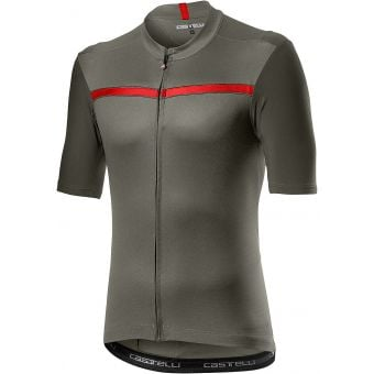 Castelli Unlimited Mens Jersey Forest Grey/Red 2021