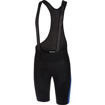 Castelli Velocissimo IV Bib Shorts Black/Surf Blue 2020