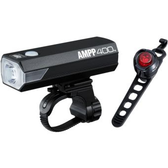 Cateye AMPP400/Orb RC 400l Rechargeable Light Set
