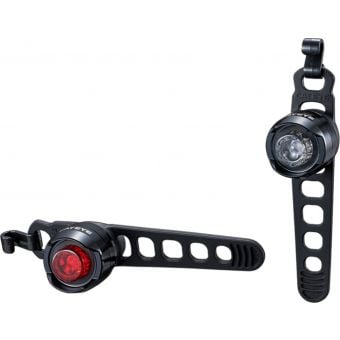 CatEye Orb Front (SL-LD160RC-F) and Rear (SL-LD160RC-R) Battery Light Set