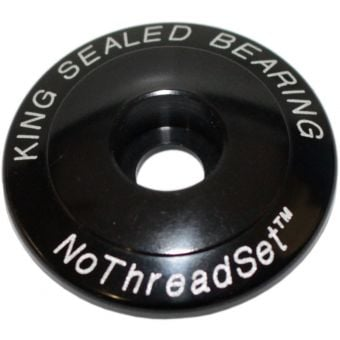 Chris King 1-1/8 Stem Cap NoThreadSet Black