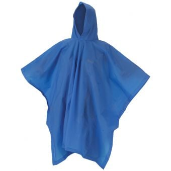 Coleman EVA Adult Hooded Rain Poncho Blue