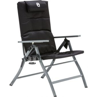 Coleman 5 Position Padded with Glassp Flat-Fold Chair Black