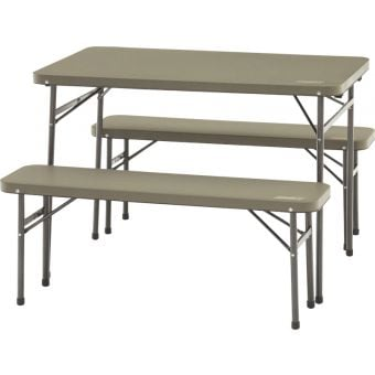 Coleman Folding Table and Bench (3 Pc Set)
