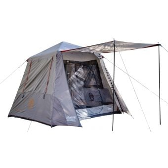 Coleman Instant-Up Northern 4-Person Tent Silver/Brown Awning