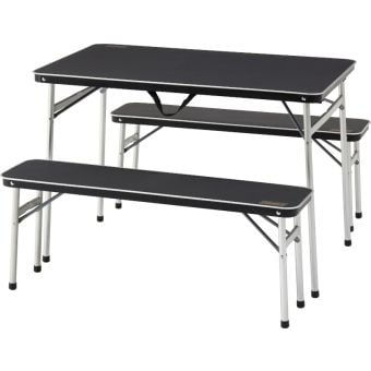 Coleman Pack Away Aluminium Table and Bench (3 Pc Set)