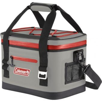 Coleman Premium Performance 16 Can Soft Cooler Red/Grey