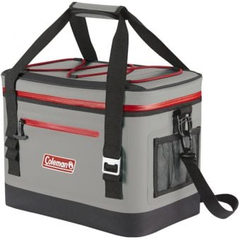 Coleman Premium Performance 30 Can Soft Cooler Red/Grey