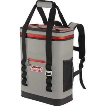 Coleman Premium Performance 24 Can Soft Cooler Backpack Red/Grey