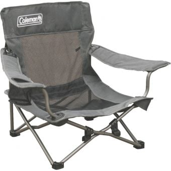 Coleman Deluxe Mesh Event Quad Chair Grey