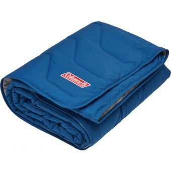 Coleman Single Deluxe Fleece Blanket Blue/Grey