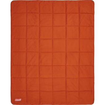 Coleman Single Deluxe Fleece Blanket Orange/White
