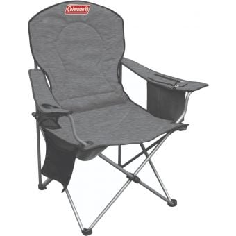 Coleman Wide Quad Deluxe Cooler Chair Grey