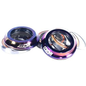Colony 45/45 Style Integrated BMX Headset with Colony Logo Rainbow