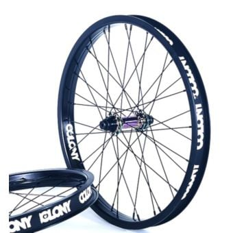 Colony Pintour Front Wheel (Pintour Pinned Rim & Wasp Hub) Black/Rainbow