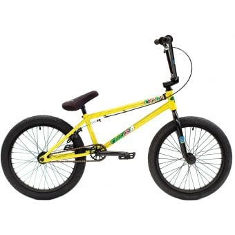 "Colony Sweet Tooth 20.7"" Pro Complete BMX Bike Yellow Storm"
