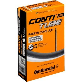 Continental Race 28 700x20/25c Light 80mm Presta Valve Road Tube