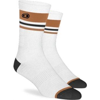 Crank Brothers Icon MTB Socks White/Brown