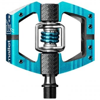 Crank Brothers Mallet E Enduro Race Pedals Electric Blue
