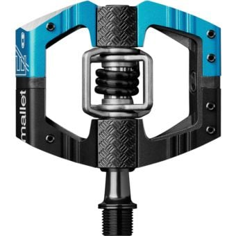Crank Brothers Mallet E Long Spindle Enduro Race Pedals Electric Blue/Black