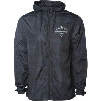 Crank Brothers Mountain Graphic Windbreaker Jacket 2021 Black Camo