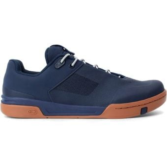 Crank Brothers Stamp Lace Flat MTB Shoes Navy/Silver Gum
