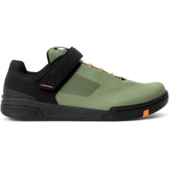 Crank Brothers Stamp Speed Lace Flat MTB Shoes Green/Orange