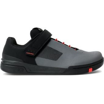 Crank Brothers Stamp Speed Lace Flat MTB Shoes Grey/Red