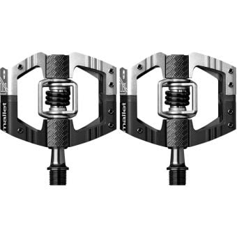 Crank Brothers Mallet E Long Spindle Enduro Race Pedals Black/Silver
