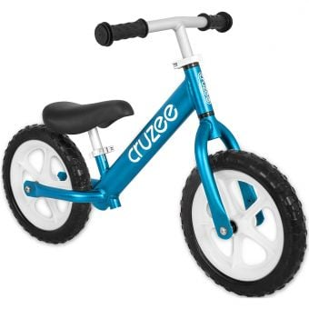 "Cruzee Two 12"" Aluminium Balance Bike Blue"