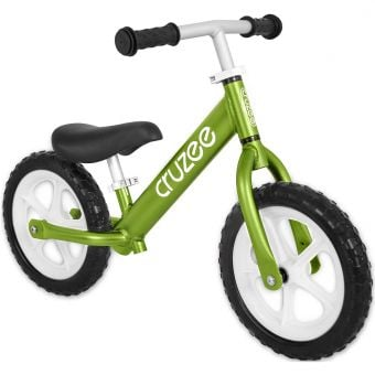 "Cruzee Two 12"" Aluminium Balance Bike Green"