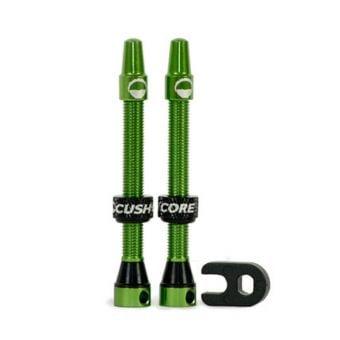 CushCore Tubeless 55mm Valve Set Green