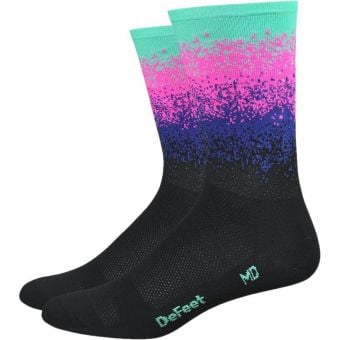 DeFeet Aireator Barnstormer Ombre 15cm Socks Black/Multicolour