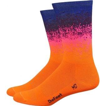 DeFeet Aireator Barnstormer Ombre 15cm Socks Orange/Pink/Blue