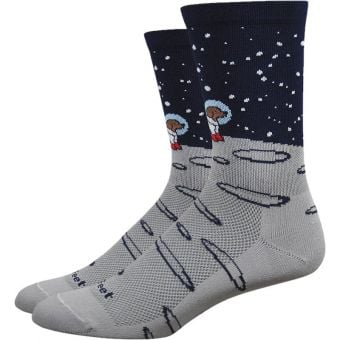 Defeet Aireator Moon Doggo 15cm Socks Grey/Black