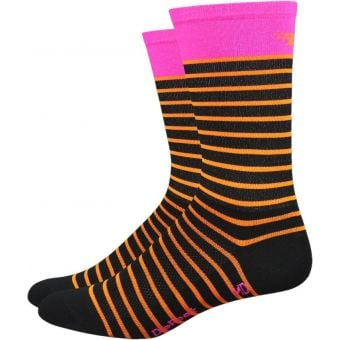 DeFeet Aireator Sailor 15cm Socks Orange/Pink/Black