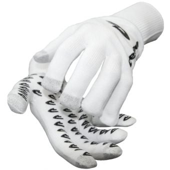 DeFeet Duraglove ET Gloves White w/Black Grippies