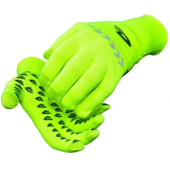 Defeet Duraglove ET Reflector Grippies Hi Viz Yellow