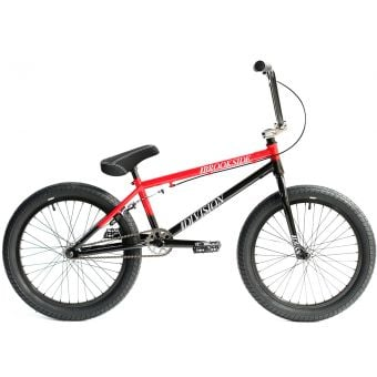 "Division Brookside 20.5"" TT Complete BMX Bike Black/Red Fade"