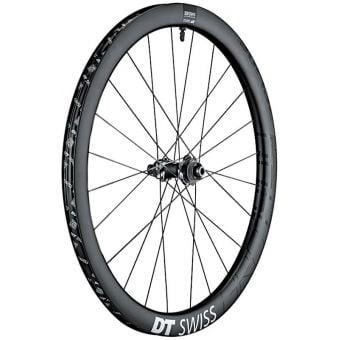 DT Swiss GRC1400 Spline 700c CL/Disc 42mm Carbon Clincher Front Wheel Black