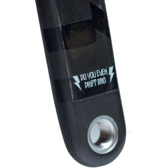 DyedBro Crank Arm Protection Wrap 175mm Clear